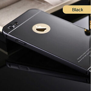 Luxury Mirror Back Cover Metal Aluminum Frame Case For Apple iPhone 6G/s,6Plus/S