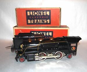 Lionel Prewar O Gauge Copper 259E Steam Locomotive & Tender! HIGH GRADE! BOXED!