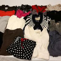 Womens Medium Mixed Clothes Lot Tommy Hilfiger Ralph Lauren Gap Roots Hollister