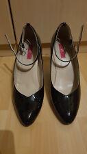 Schwarze Lack Riemchen High Heels Gr.45 (US14) von Pleaser
