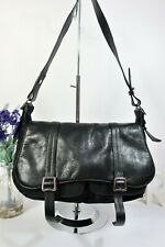"RADLEY Grosvenor"" Crossbody Shoulder Bag Medium Black Leather Fabric Lightweight"
