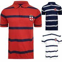 Men Short Sleeve Striped ENGLAND EURO 2020 Polo Shirt T-Shirt Top Collar S-3XL