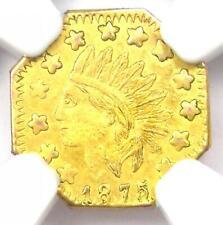 1875 California Gold Indian 1/2 Half Dollar Token - NGC Uncirculated (MS UNC)