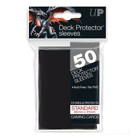 Ultra PRO Deck Protector Sleeves Standard Card Size BLACK 50ct 66 x 91mm