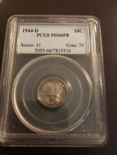 1944-D 10C Mercury Dime PCGS MS66FB