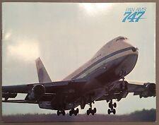 PAN AM BOEING 747 SALES BROCHURE 1969 PAA AMERICAN