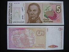 Argentina 5 australes 1985-89 replacement note! (p324r) UNC
