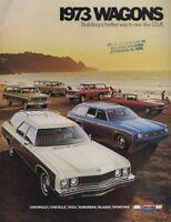 1973 Chevrolet Chevy Laguna Caprice Sales Brochure Book