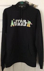 star wars mandalorian Baby Yoda Mens Hoody Size Medium New