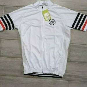 Casp Cycling Jersey Men's Large White NWT