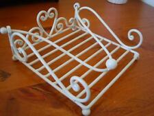 Handmade French Style Iron Paper Napkin Holder 19cm Ivory Color