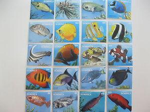 Dominica-Fish-Marine life-1996 Sc# 1877-1896