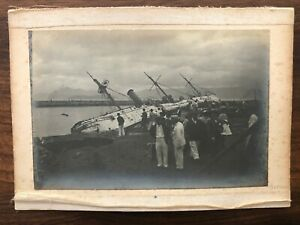 2 X CHINA HONGKONG OLD XL LARGE PHOTO SHIP PEOPLE !!