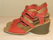 FLY LONDON EVE GORGEOUS DESIGNER WEDGE LEATHER SANDALS UK 6 EUR 39 BNWOB RRP £85