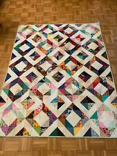 """Handmade Quilt """"I Spy"""" or """"Ring around t 00004000 he Rosie"""" Reversible 47"""" x 60"""" Lap New"""