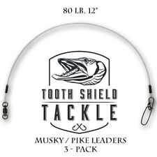 3 Pack 240 lb 14 Musky Pike Stainless Steel Jerkbait Leaders Stay-Lok BB Swivel Sporting Goods Fishing Leaders & Leader Material