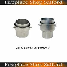 """5"""" to 5"""" Flue stove pipe to chimney liner adapter"""