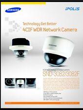 Samsung SND 3082 Varifocal Cctv Techwin iPOLis Onvif Varifocal Ranura Sd Alarma de E/S