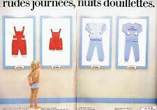 PUBLICITE ADVERTISING 116  1983  les pyjamas enfant(2p ) Petit Bateau