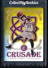 16-17 Panini Crusade Gold Prizm / Refractor # 10/10  LeBron James 1/1