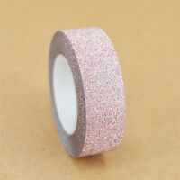 10M Self Adhesive Glitter Washi Masking Tape Sticker Craft DIY Decor Decorative