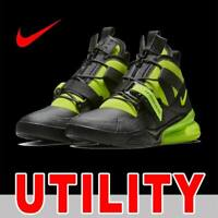 NIKE AIR FORCE 270 UTILITY HIGH BOOT ZIPPER BLACK VOLT DURABLE AQ0572-001 SZ 12