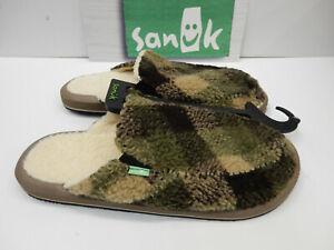 Sanuk Mens Sidewalk Surfers You Got My Back II Chill Brown Plaid Size 9