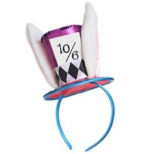 Adult Mad Hatter Headband Wonderland Rabbit Fancy Dress Costume Alice Accessory