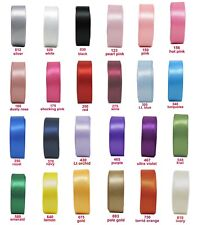 "5y-25y 75mm 3"" Double Sided Faced Premium Heavy Satin Ribbon Sash Extra Wide Eco"