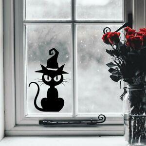 Halloween Sticker Creepy Cat Window Decal Spooky Kids Party Decorations