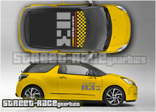Citroen DS3 FULL 003 roof & side PLANE SPIRIT racing graphics stickers decals