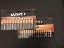 Duracell AA and AAA Batteries, 24 AA + 16 AAA, Expires 2028, FREE SHIPS