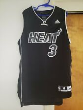 Vintage 2000s Dwayne Wade Miami Heat Black Jersey Size Youth M All Black