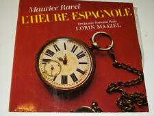 LP maurice RAVEL l'heure Espagnole ORCHESTRE de paris LORIN MAAZEL franc NOHAIN