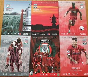 6 x Liverpool FC Home programmes from First ever Premiership winning Season!!