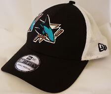 new style f5a05 f9d3d NWT NEW ERA San Jose SHARKS mesh CA 39THIRTY size small-medium cap hat nhl
