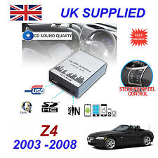 BMW Z4 MP3 SD USB CD ENTRADA AUX adaptador de audio digital Cambiador Cd Módulo
