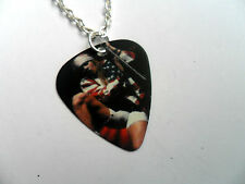 GUNS N ROSES AXL ROSE  Double Sided Guitar Pick  //  Plectrum  Silver  Necklace