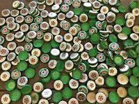 Heineken Beer Bottle Caps for CRAFTERS & ARTISTS VIBRANT GREEN w/RED CENTER STAR