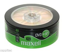 25 maxell DVD+R 4.7 Go 16x max matt gold top disques vierges, colorant mbipg101 R05