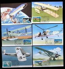 ST THOMAS & PRINCE Is. 1979 AIR SPACE SET FDC Used on Maxi Cards (6 Items)[D351]