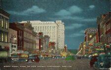 Vintage Postcard - Market Street Along The Dixie Highway - Chattanooga TN