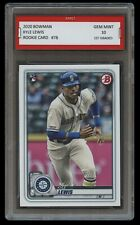 KYLE LEWIS 2020 / '20 BOWMAN Topps 1ST GRADED 10 ROOKIE CARD RC SEATTLE MARINERS