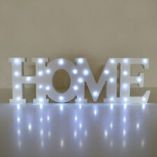 Home Wooden LED Light up Sign Plaque Word Gift Home-Office Party Decoration Fun