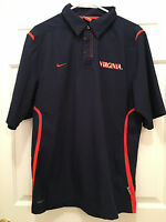 University of Virginia UVA Cavaliers Soccer Team Issued Nike Polo Pullover Small