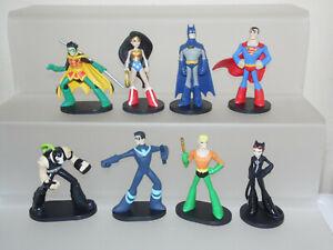 "FUNKO Heroworld DC Comics 4"" Figures Batman Superman Aquaman Wonder Woman Robin"