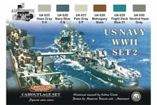 LifeColor CS25 Camouflage Set US NAVY Set2 6x 22ml Acrylic Colours