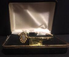 Vintage Goldtone Bracelet Bangle Cuff With OPAL Stone