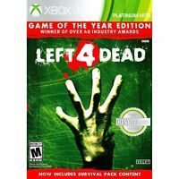 Left 4 Dead Game of the Year Edition Xbox 360 Xbox One XB1 Valve Zombies - New!