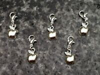 Set Of 5 Stitch Markers Knitting Crochet Accessory Apples Charms needlecraft